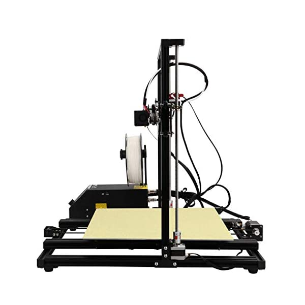 Creality 3d printer new version,fdm single extruder,with magnetic build surface plate & quick assembly kit,works with abs,pla,tpu filament,black