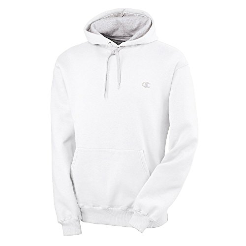 Champion Men's Pullover Eco Fleece Hoodie, White, X-Large ()