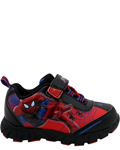 Favorite Characters Baby Boy's Spider-Man Lighted Sneaker (Toddler/Little Kid) Red/Black 11 M US Little Kid -