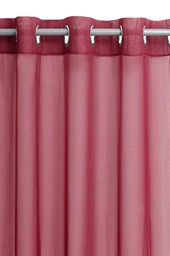 Vorhang Gardine Transparent Ösenschal in Rot 140x245cm Dekoschal Ösen