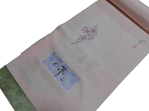 伝統申し込むご予約正絹長襦袢 【反物】【13.5m】【竹久夢二】【薄ピンク】【桜】【パレス】【未仕立て】