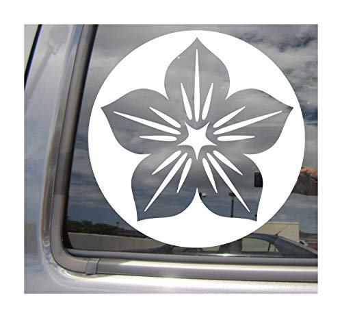 Right Now Decals - Kamon Japanese Symbol #2 - Mon Monsho Mondokoro Family Crest - Cars Trucks Moped Helmet Hard Hat Auto Automotive Craft Laptop Vinyl Decal Window Wall Sticker 10499