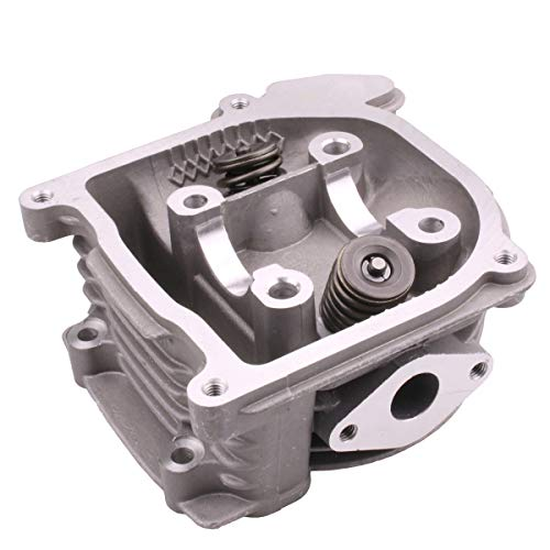 Scooter Cylinder Head - Glixal ATMT1-012 GY6 50cc to 100cc Scooter Engine 50mm Cylinder Head Assy with 64mm Valves for 139QMB 139QMA Chinese Moped ATV Go Kart Quad (Non EGR Type)