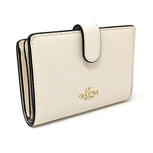 Coach Crossgrain Leather Medium Corner Zip Wallet F11484 (Chalk)