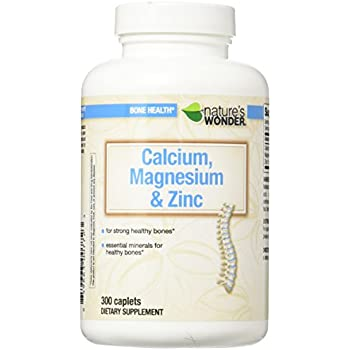 Natures Wonder Calcium Magnesium and Zinc Supplement, 300 Count
