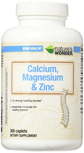 Nature's Wonder Calcium Magnesium and Zinc Supplement, 300 Count