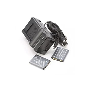 Amazon.com: 2pcs batería + cargador para Olympus lápiz ...