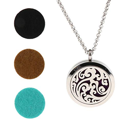 New Fragrance Essential Oil Aromatherapy Perfume Diffuser Pendant Necklace Jewelry Crafting Key Chain Bracelet Pendants Accessories Best| Color - Flower
