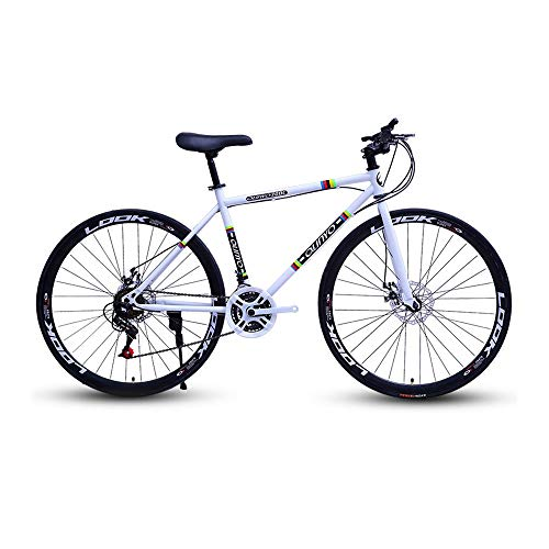 GYZLZZB High Carbon Steel Frame 26 Inch 27-Speed Men and Women 40 Turns Road Bike Bicycle Adult Student Outdoors Sport…