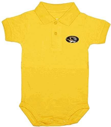 Ncaa Baby Creepers Shop - Creative Knitwear Missouri Tigers NCAA College Newborn Infant Baby Polo Creeper (3-6 Months)