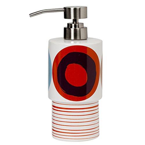 Dot Swirl Bath Rug - Creative Bath Products Dot Swirl Lotion Dispenser, Multi-Color