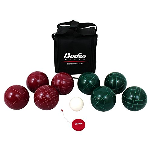 Baden Champions 107mm Bocce Ball Set with Carry Case and Measuring Tape by Baden