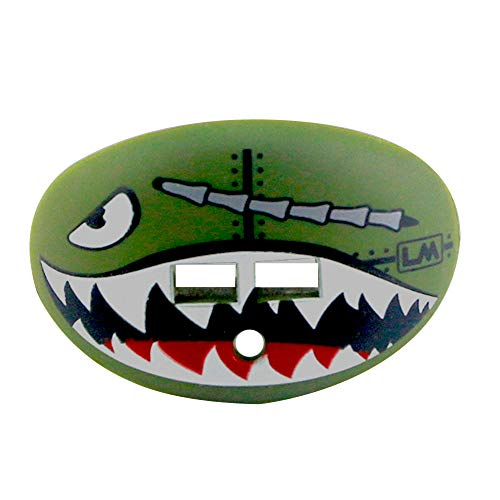 Loudmouth Football Mouth Guard | Military Flying Tiger Adult and Youth Mouth Guard | High Impact Mouth Piece for Sports | Dual Action Air Flow Mouth Guards | Pacifier Lip and Teeth Protector