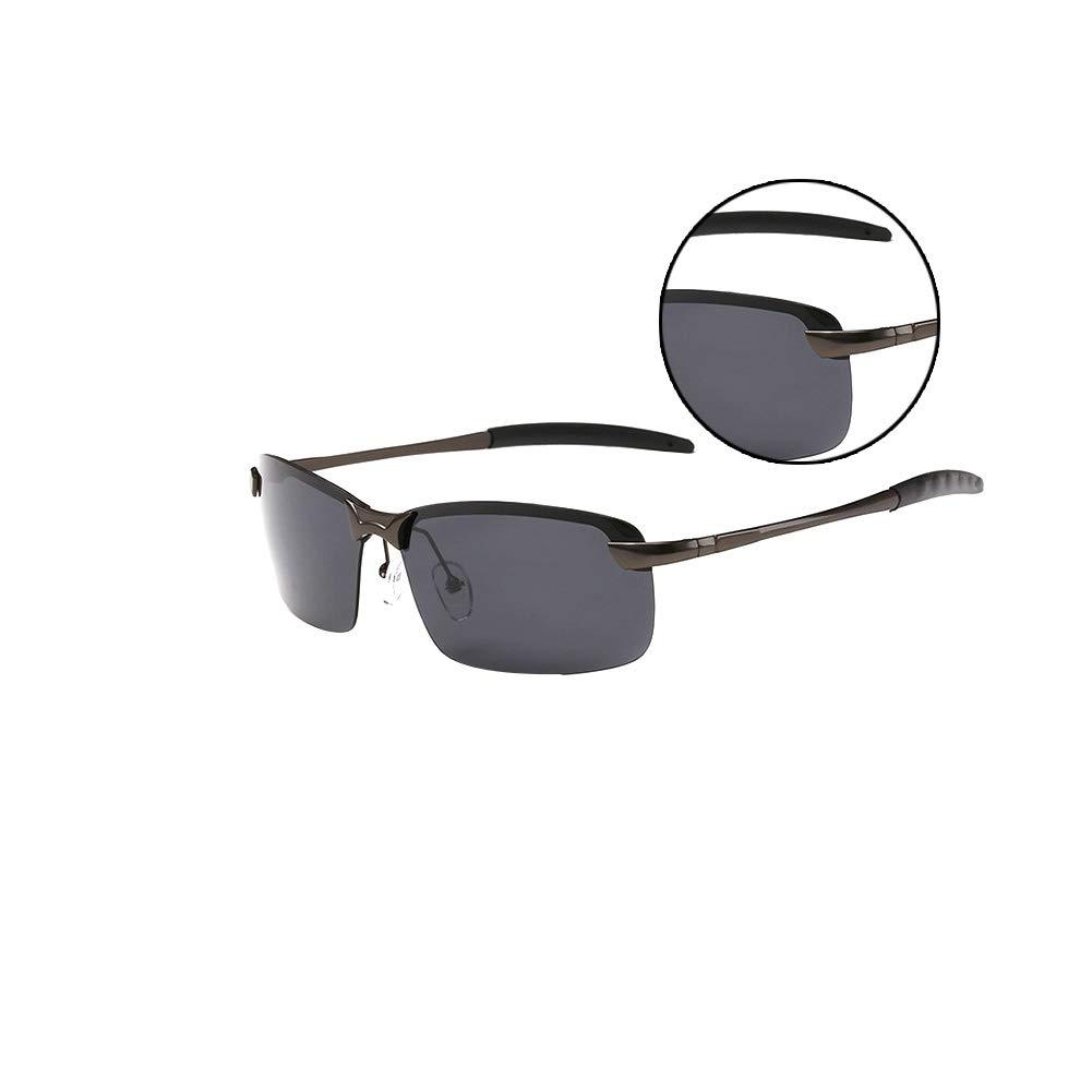 Men Sports Polarized Sunglasses UV Protection Sunglasses Unbreakable Frame for Running Fishing Baseball Driving Gray Lens