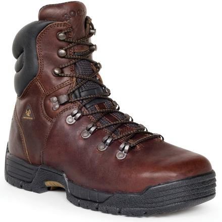 Rocky Men's Mobilite Eight Inch Steel Toe Work Boot,Brown,10.5 M US ()