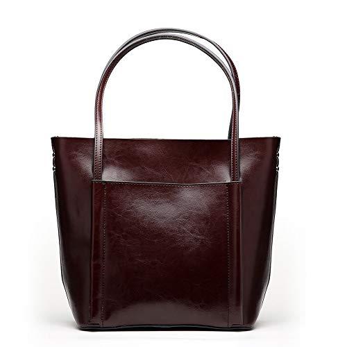 Tracolla Borsa brown E Shopping Donna Vera Semplice Tempo Pelle Bag Libero Gloozd Borse Brown2 Affari w1XpqIx