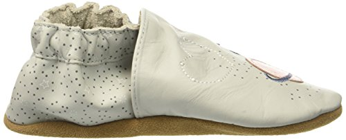 Robeez Girls' Over the Moon Crib Shoe, Over the Moon Grey Violet, 3-4 Years M US Infant