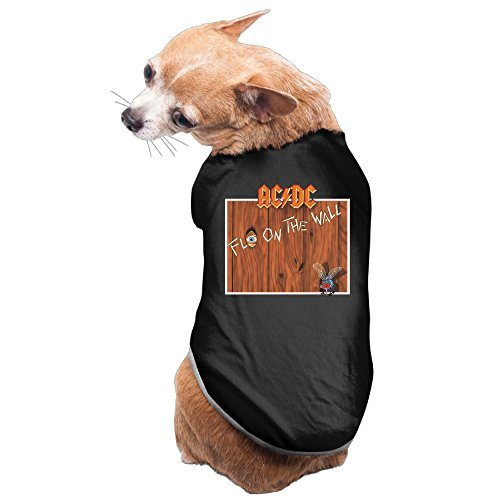 Dog Costume ACDC Band Fly On The Wall Design PuppyShirt Pet (Highway To Hell Costume)