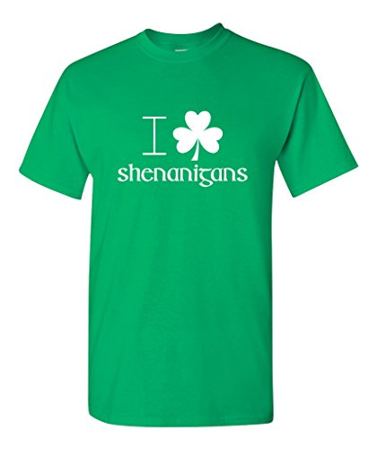 I Clover Shenanigans T-Shirt St Patrick's Day T Shirt XL Irish Green (St Pats T Shirts)