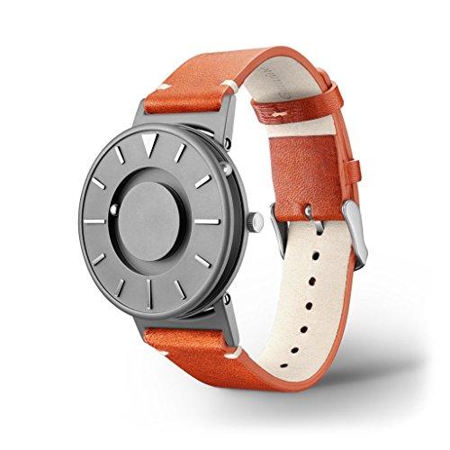 EONE watch Bradley X KBT Special Edition Orange Leather - Titanium Kickstarter