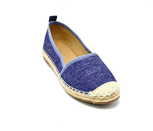 Oh My Shop Women's Espadrille Flats black black Women's Blue aEmacW