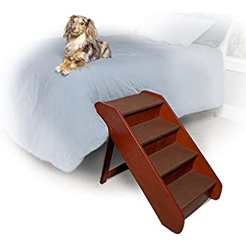 Solvit PetSafe PupSTEP Wood Pet Stairs, Foldable Steps for Dogs and Cats, Best for Small to Medium Pets