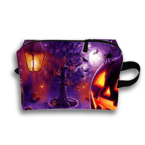 Cosmetic Bags Travel Portable Makeup Pouch Cool Halloween Print Clutch Bag with Zipper ()