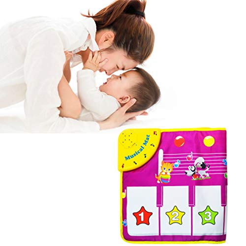 Yolyoo Musical Mat, Piano Keyboard Play Mat Animal Musical Step on Dance Toy Baby Touch Electronic Piano Play Mat for 3-6 Year Old Kids by Yolyoo (Image #2)