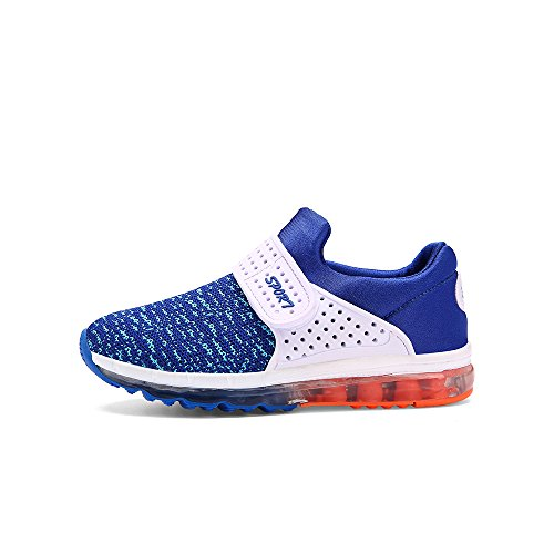 VILOCY Unisex Kinder USB Lade LED Aufhellen Jungen Mädchen Leuchtend Sneaker 6 Farbe Hellblau EU33