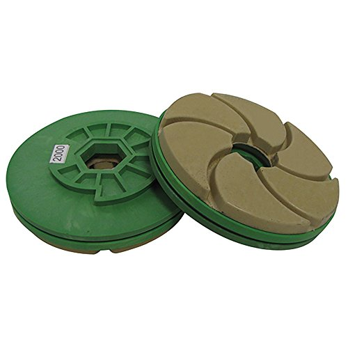 (Tenax 2000 Grit 5 Inch Combo Polishing Wheel for Bullnoses and Straight Edges )