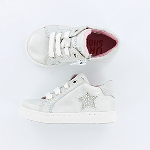 Shoesme UR5S023-C Urban Sneaker in Silber/Weiß Gr. 22-28
