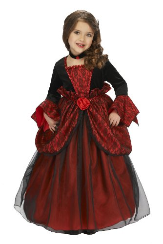 [Just Pretend Kids Vampire Princess Costume with Hoop and Choker, X-Large] (Little Vampire Costume)