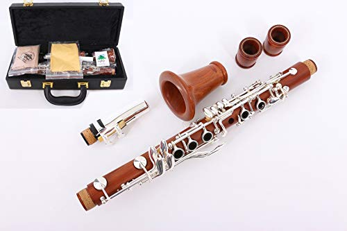 Yinfente Intermediate Eb key Clarinet Rosewood Solid wood Clarinet Silver