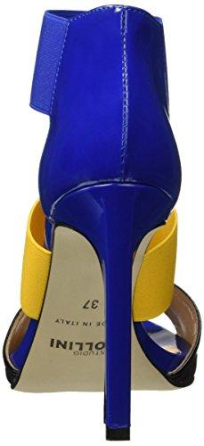 Pollini SA16229C11TN - Zapatos de vestir Mujer Multicolor - Multicolore (Noir/Ocra)