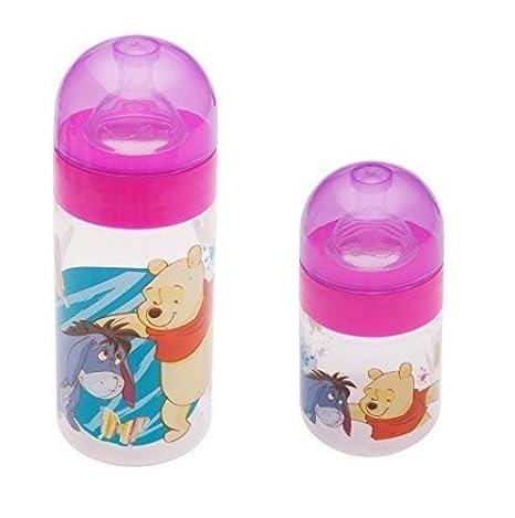 2er Set: Disney Winnie Pooh Rosa Bebé Botella De Cuello Ancho 125ml+ ...