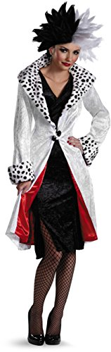 Adult Fur Coat Cruella Costumes (Disney's Cruella D'Evil Adult Costume)