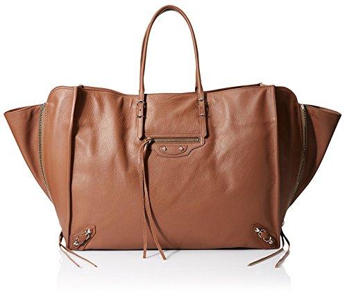 Balenciaga Women's Paper Zip Around A4, Dark Brown
