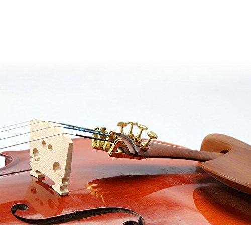 4 unidades para cuerdas de 63 y 127 mm Afinadores para cuerdas de viol/ín plateado