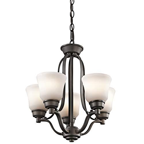 Mini Chandeliers 5 Light Fixtures with Olde Bronze Finish Medium Bulb Type 17