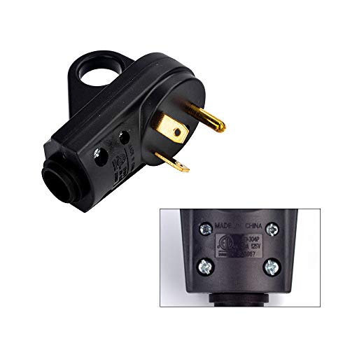 EForces Heavy Duty 30 AMP RV Replacement Receptacle Plug Electrical Plug Adapter with an Easy-Grip Handle for RV, Camper, Trailer (Male Plug) by EForces (Image #5)