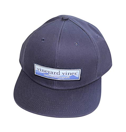 Vineyard Vines Men's Wave Patch High Profile Twill Baseball Hat Blue Cap (Vineyard Vines Men Hats)