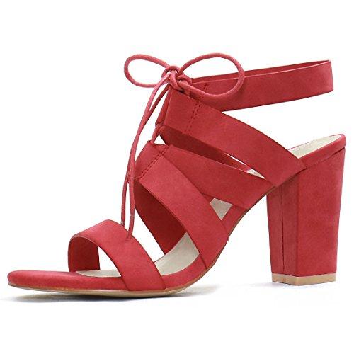 Red Block Heels: Amazon.com