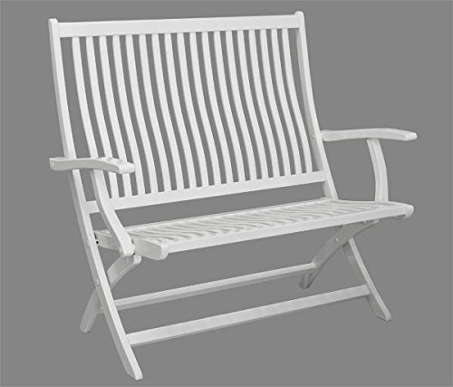 2 sitzer gartenbank ascot mit hoher r ckenlehne holz wei lackiert qualit t aus deutschland. Black Bedroom Furniture Sets. Home Design Ideas