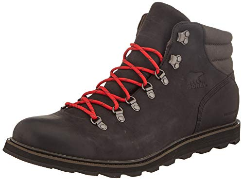 Sorel - Men's Madson Hiker Waterproof, Black, 9.5 M US