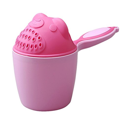 Tear-Free Rainfall Rinser Shower Cup for kids (Pink) ()