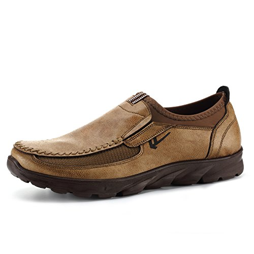 FUT Fashion Men's Winter Leather Casual Shoes Breathable Antiskid Loafers Moccasins (Shoes Winter Casual)