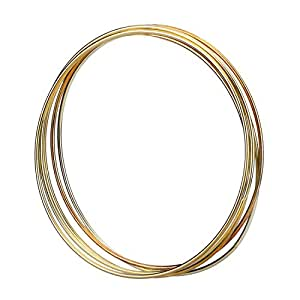 Eboot 5 pack gold metal rings hoops macrame for 3 inch rings for crafts