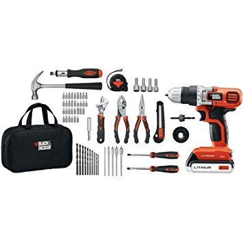 BLACK & DECKER LDX120PK 68-Piece 20-Volt Drill Project Kit