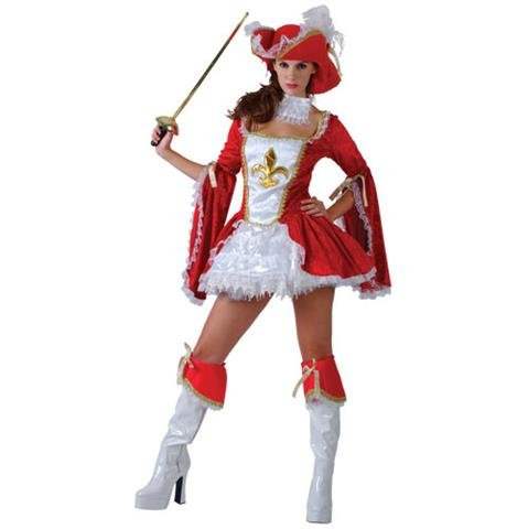 Sexy Madame Musketeer Adult Womens Fancy Dress Costume (Musketeers Fancy Dress)