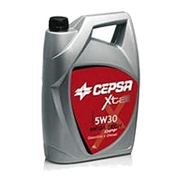 CEPSA 511933601 Xtar Mega Tech 5W30 DPF, Aceite sintético para Motores de vehículos de Turismo, 4 L: Amazon.es: Coche y moto